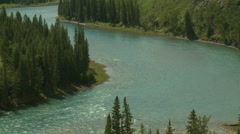 Bow river zoom out Stock Footage