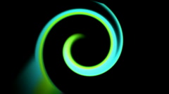Green curve,swirl thread ray light,circle,round,laser time tunnel,web space.par Stock Footage
