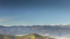 Snow sun mountain range pyrenees landscape 4k Stock Footage