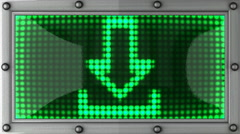 download announcement on the LED display - stock footage