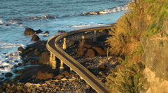 Path at the coast of Madeira Stock Footage