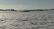 Snow covered arable field. Stock Footage