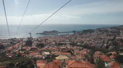 Cable car Funchal, Madeira Stock Footage