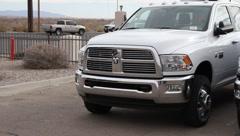 New Model Pickup Trucks Stock Footage