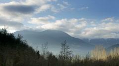 Mountain range pyrenees landscape 4k Stock Footage