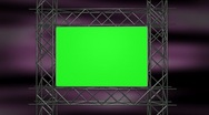 Stock Video Footage of Green Screen with Iron Frame over Motion BG