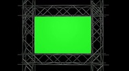 Stock Video Footage of Green Screen with Iron Frame over Alpha Channel