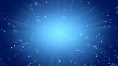 Blue abstract background light beams and particles Stock Footage
