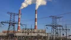 Heat electropower station Stock Footage