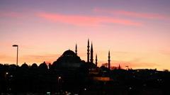 Suleymaniye Mosque Stock Footage