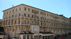 The harbor on Alcatraz Island Stock Footage