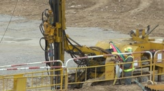 Drilling machine - stock footage