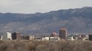 Albuquerque and Sandias Stock Footage