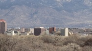 Distant Albuquerque View Stock Footage