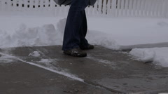 Snow Removal Stock Footage