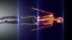 Health care diagnostic scan Stock Footage