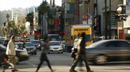 Stock Video Footage of Hollywood 03 Timelapse Traffic and crowds