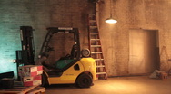 Forklift in warehouse 1037 HD Stock Footage