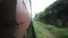 train, Sri Lanka - stock footage