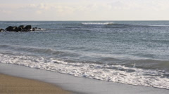 Ostia sandy beach in winter Stock Footage