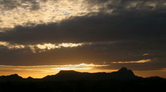 Time Lapse Sunset Squeeze Stock Footage