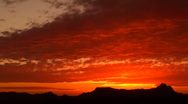 Stock Video Footage of Arizona Sunset Time Lapse