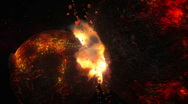 Stock Video Footage of Molten Planets Collide
