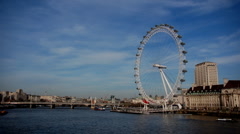 London Eye Timelapse Stock Footage