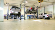 Stock Video Footage of Car repair shop , crane shoot