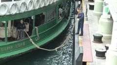 Hong Kong boat docking - stock footage