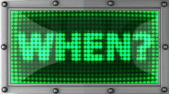 when announcement on the LED display - stock footage