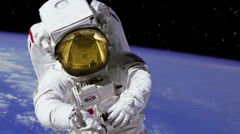 HD Astronaut on Spacewalk Stock Footage