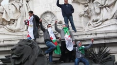 Paris, France, Arab Spring Demonstration, in Support of Libyan Revolution, Stock Footage