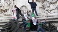 Paris, France, Arab Spring Demonstration, in Support of Libyan Revolution, Stock Footage