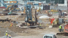 Hong Kong construction - stock footage
