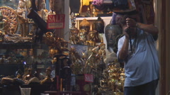 Thailand: Chiang Mai night bazaar Stock Footage