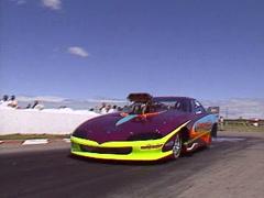 Motorsports, Drag Racing, Pro Mod camaro burnout Stock Footage