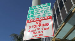 Parking Sign 02 HD Stock Footage