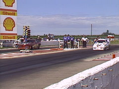 Motorsports, drag racing,Top Fuel funny car race Stock Footage