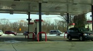 Gas Station  Stock Footage