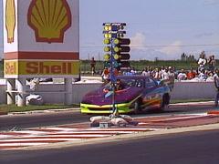 Motorsports, drag racing, Pro Mod camaro 200 MPH, 6 sec pass  Stock Footage
