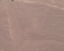 Nazca lines from above Stock Footage