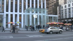 Apple Store in Manhattan Stock Footage