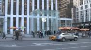 Apple Store in Manhattan Stock Footage