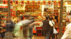 Chinese food store Stock Footage