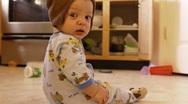 Baby crawling around 1 Stock Footage