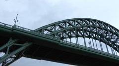 Tyne Bridge to Quayside, Newcastle-upon-Tyne Stock Footage