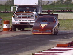 Motorsports, drag racing,Top Fuel funny car burnout Stock Footage