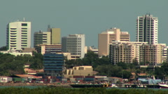 Stock Video Footage of darwin city through heat haze