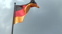 German flag - stock footage